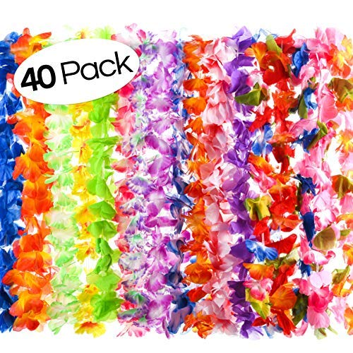 Elcoho Luau Grass Table Skirt Set Hawaiian Party Decorations for ...