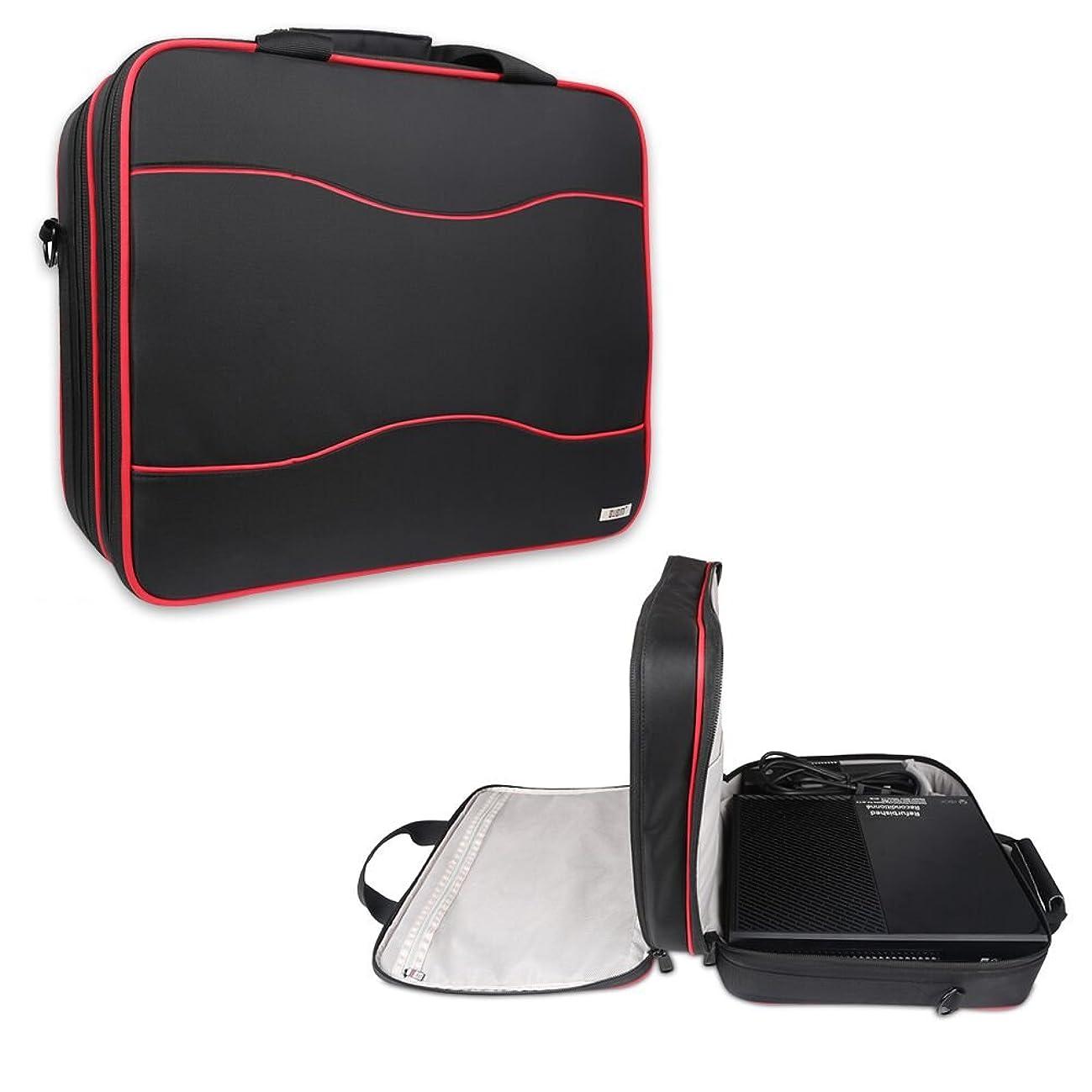 利得背景指標BUBM PlayStation4 Pro/ Microsoft Xbox One 収納ケース 防水 耐衝撃 本体?周辺機器 まとめ収納 手提げ 肩掛け スーツケースに掛けられ