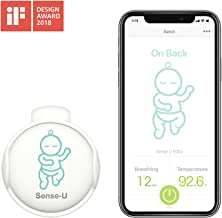 Sense-U Baby Monitor with Breathing Rollover Movement Temperature Sensors: Track Your..