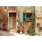 Vlies Fototapete PREMIUM PLUS Wand Foto Tapete Wand Bild Vliestapete - Mittelmeer mediterran Haus Tür - no. 3298, Größe:368x254cm Vlies