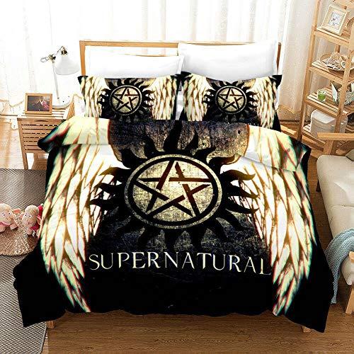 dreambeading Supernatural Bedding Set King Size TV Duvet Cover for Boys Ultra Soft Comforter Bedspread Cover Bedroom Decor for Teen Adult