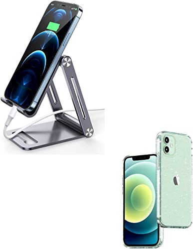new arrival UGREEN Cell Phone Stand and Glitter Phone Case Bundle online sale Compatible with sale iPhone 12 Pro online sale