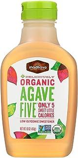 MADHAVA HONEY AGAVE FIVE ORG, 16 OZ (6-Pack)