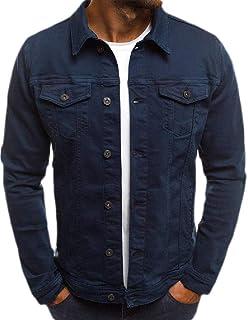 Macondoo Mens Casual Long Sleeve Denim Button Down Jean Jackets Coat