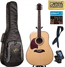 Oscar Schmidt LEFT HAND Dreadnought Acoustic Guitar, Spruce Top,Gigbag Bundle OG2NLH