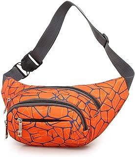 Outdoor Sport Waist Pack, Men's and Women's Multifunction Sports Leisure Zip Satchel Riding Bag Can Place Mobile Phones, Wallets, Watches, Various Documents, Etc. (Size: 33*6*13cm) ( Color : Orange )
