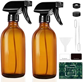 Tecohouse Glass Spray Bottles for Cleaning Solutions and Essential Oils, 125ML Small Empty Refillable Sprayer Container wi...