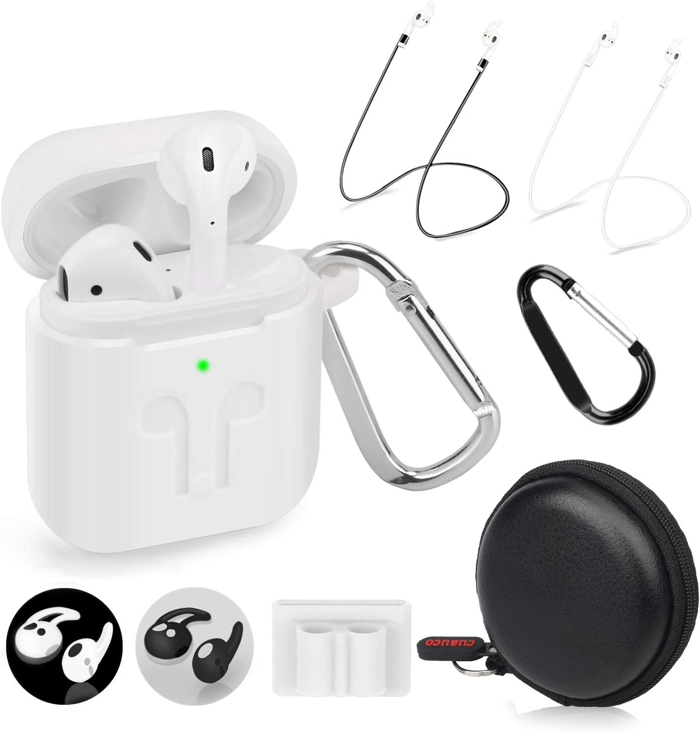 Cuauco 2020 Under blast sales Newest Airpods Under blast sales Case for Front LED 1 2 Visi