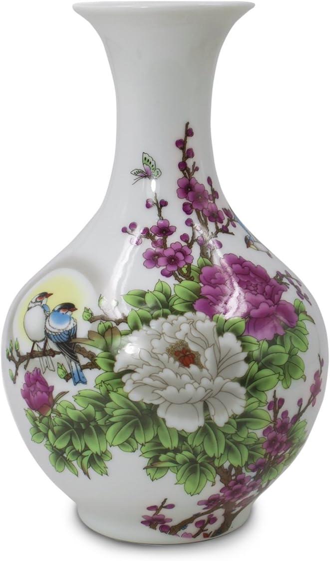 Dahlia Birds in Peony Bush Famille Flowe Porcelain Large-scale sale Rose Long-awaited Oriental