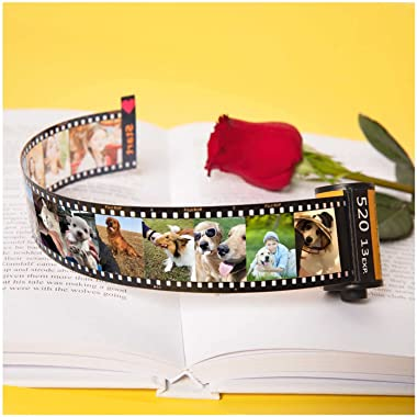 Personalized Camera Film Roll Photo Album, Custom Souvenir Gifts with MultiPhoto For Kids Family Lover