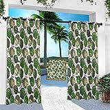 Cortina de pérgola, alcachofa, súper orgánica, de 254 cm de ancho x 274 cm de largo cortinas térmicas para patio al aire libre para bloques de luz/ahorro de energía (1 panel)