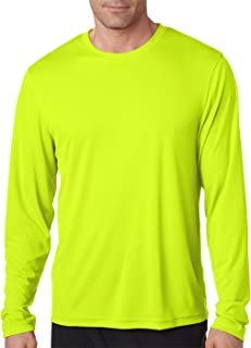 Men's 2 Pack Long Sleeve Cool Dri T-Shirt UPF 50+ 1 Graphite/1 Safety Green