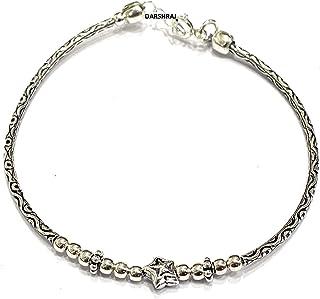 DARSHRAJ 925 Sterling Silver(Chandi) Star Charm Bracelet Best For Girls (4.5gm)