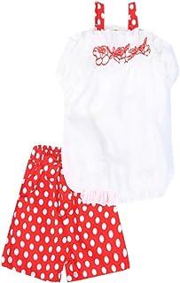 Ropa de verano para niñas sin hombros + pantalones cortos de lunares, 2 piezas, ropa para niñas y adolescentes