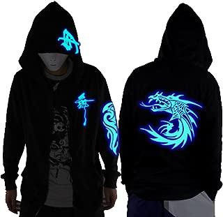 Unisex-Adult/Teens Galaxy/Wolf/Dragon/Skull Unique Design Hoodie Luminescent Hoody Glow in The Dark