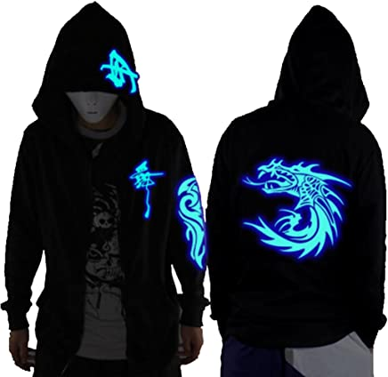 fb206ff54c Unisex-Adult Teens Galaxy Unique Design Hoodie Luminescent Hoody Glow  Lights at Night