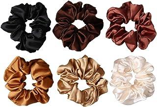 nuoshen 6 Pieces Hair Scrunchies, Satin Elastic Soft Hair