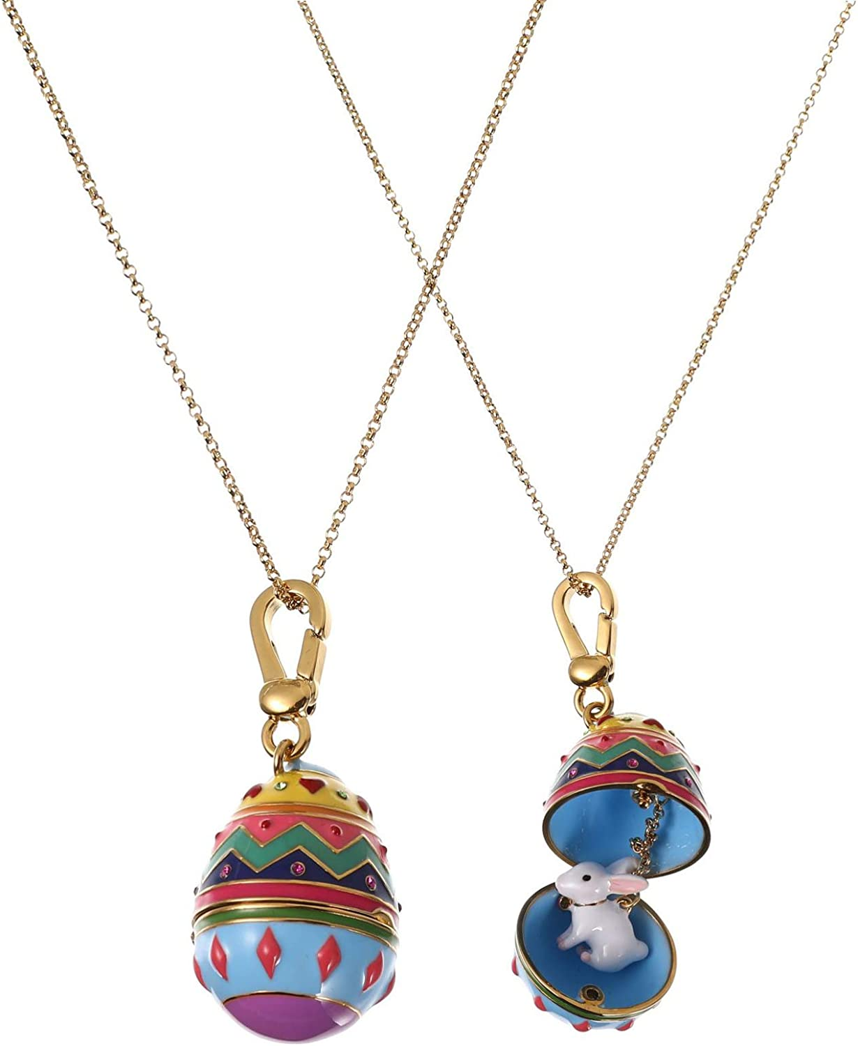 BESTOYARD Easter バーゲンセール Egg 正規激安 Necklace 18k Charm with Colorful