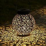 Lanterne Solaire, Tomshine LED Lampe lanterne extérieure, Etanche IP44, Sans fil Rechargeable pour Garden Patio Courtyard Extérieur [Classe énergétique A+]