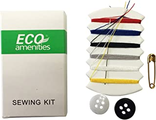 ECO Amenities Embroidery Compact Sewing Kit Individually Wrapped Paper Box 100 Boxes per Case