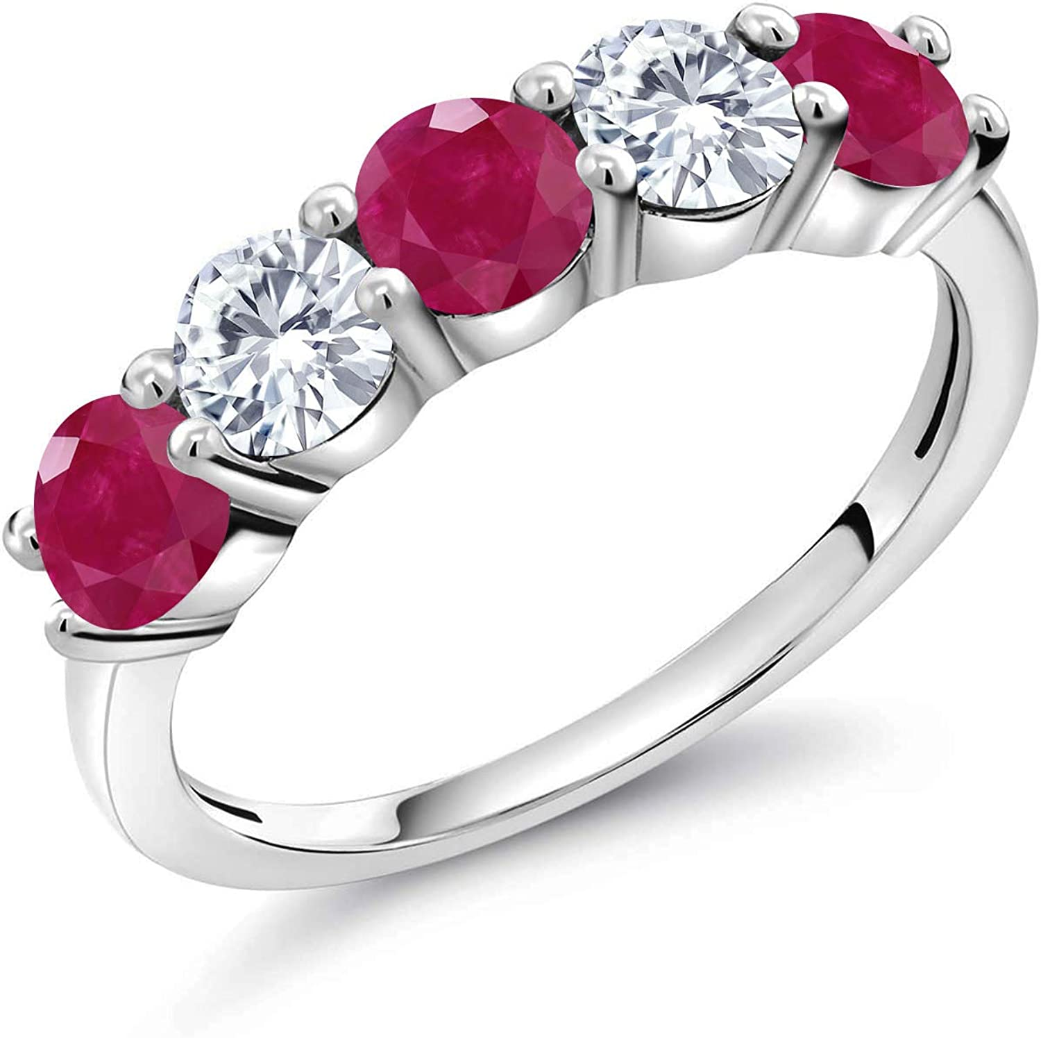 Gem Stone King 925 Sterling Silver Grown and Our shop OFFers the best service 5% OFF White Ruby Lab Red