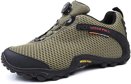 ZFLIN zapatos de senderismo de malla transpirable zapatos de senderismo al aire libre-verde-39
