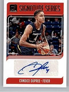 2019 Donruss WNBA Signature Series #9 Candice Dupree Auto Indiana Fever Official Panini Basketball Card