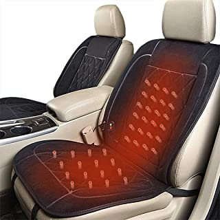 Lvydec Heated Car Seat Cover - 3 Temperature Level Heated Seat Cushion for 12V/24V Car SUV Truck, Black