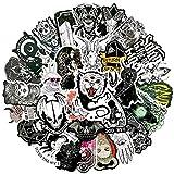 YOUKU Pegatinas de Bruja Impermeables góticas de Demonio de Dibujos Animados para monopatín DIY Juguete Nevera álbum de Recortes Guitarra portátil Equipaje 50 unids/Set