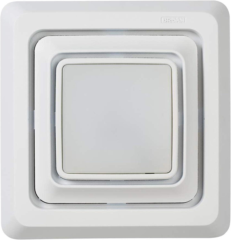 Broan NuTone Broan FG20S LED Lighted Grille Upgrade for Bathroom  Ventilation Fans, Easy Installation for DIY, White, Square