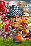Signed University of Alabama Football Crimson Tide Fine Art Print Poster 11x17 Paul Bear Bryant Nick Saban Joe Namath Bart Starr College Football Bama Legends