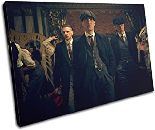 Bold Bloc Design - Peaky Blinders Television Show TV 75x50cm SINGLE Canvas Art Print Box Framed Picture Wall Hanging - Hand Made In The UK - Framed And Ready To Hang 13-2482(00B)-SG32-LO-C