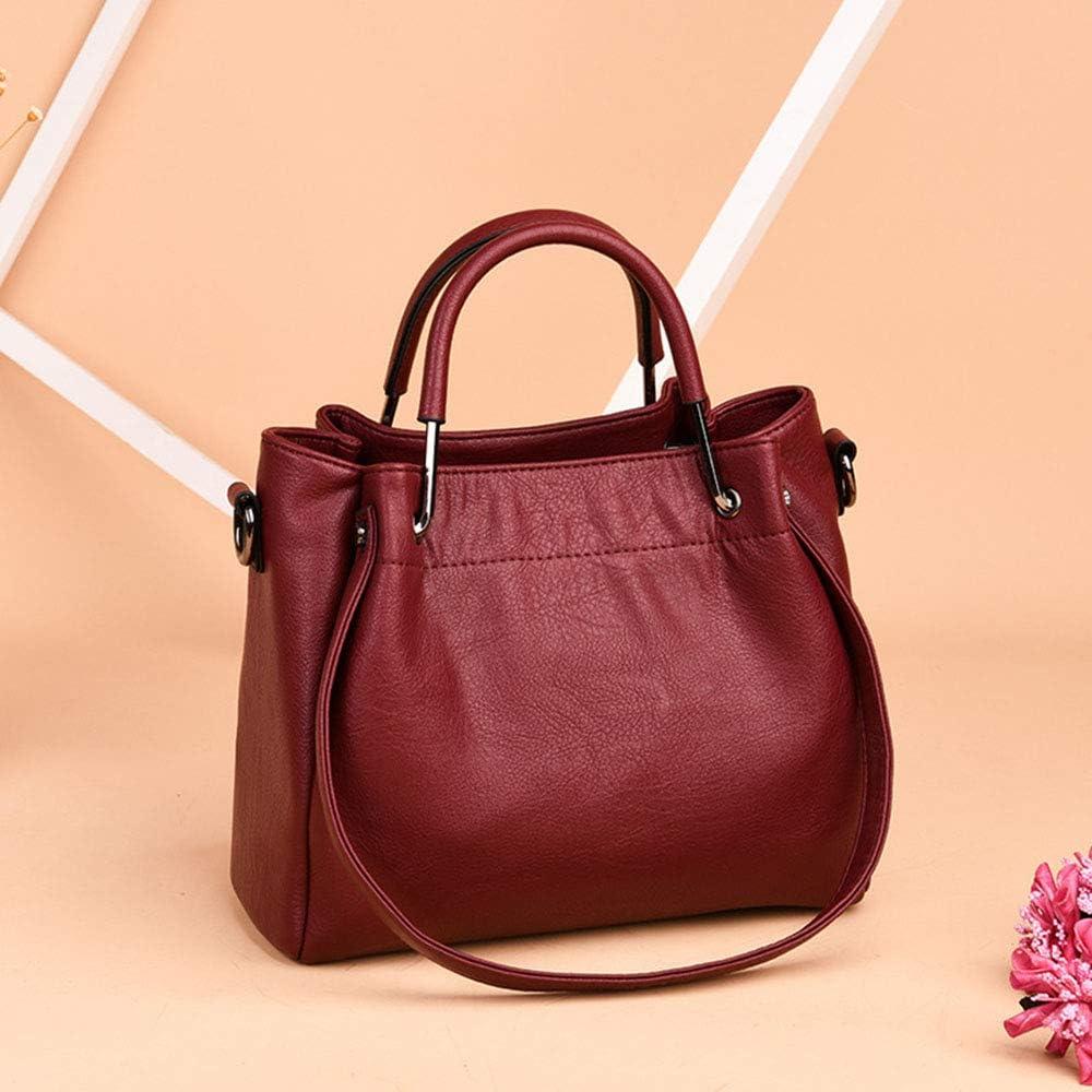 Sacs À Main Femme Sac à Main décontracté à bandoulière pour Femme Slung Retro Bucket Bag Multifonction Cadeaux Parfaits (Color : Purple) Red