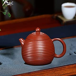 HaiNing Zheng teapot famous pure hand-threaded Huanglong Mountain ore authentic dragon eggs pot of household teapot tea (C...