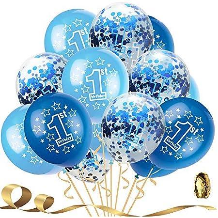 Happy 1st Birthday Girl Balloons Pack of 6