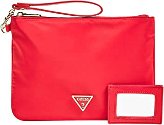 Guess Women's Did I Say 90S? Cosmetic Bag 24Cm Red