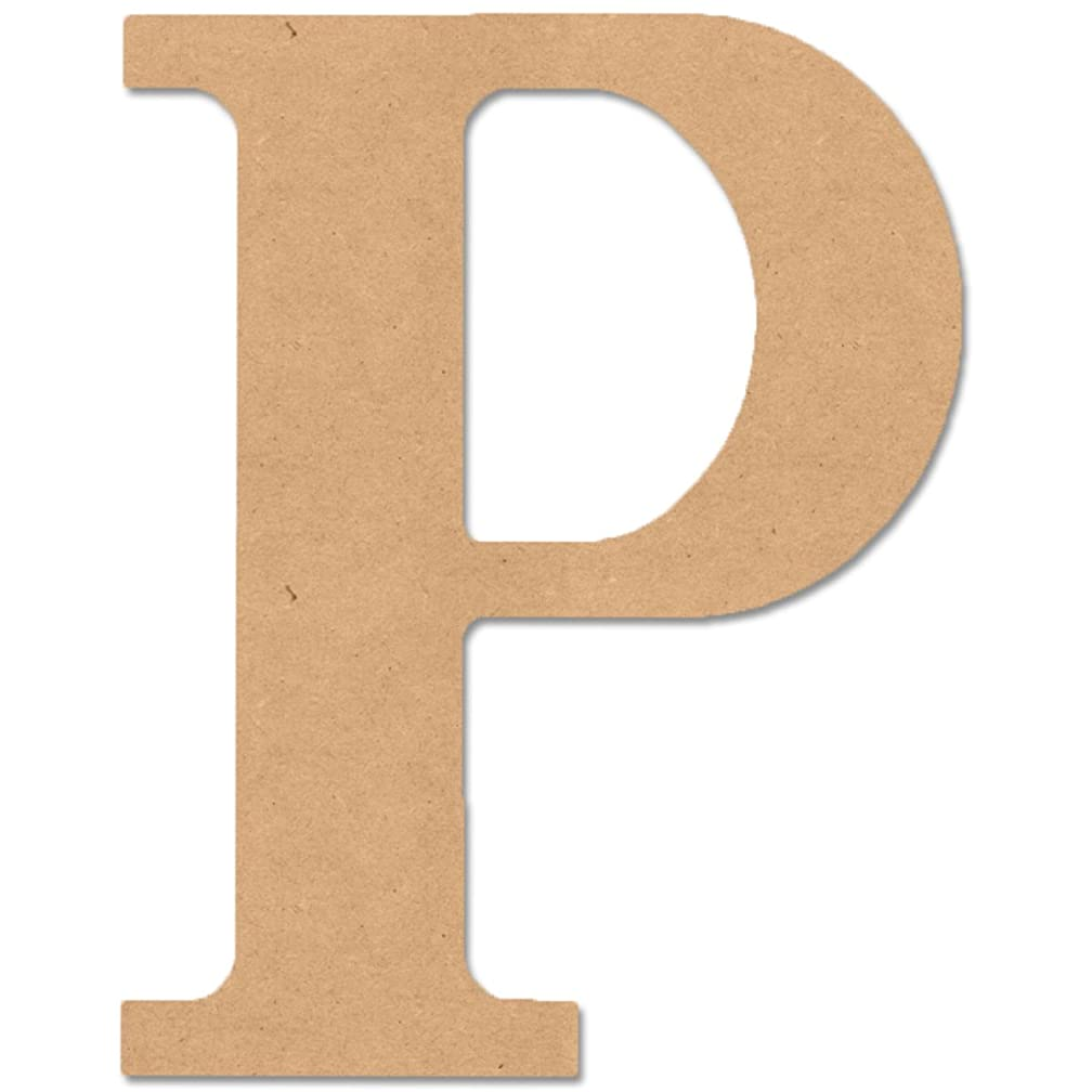 MPI MDF Classic Font Wood Letters and Numbers, 9.5-Inch, Monogram P