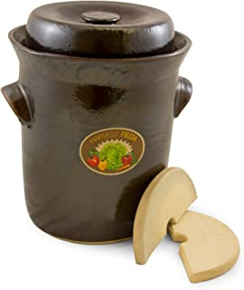 TSM Products 31041 Harvest Fiesta Fermentation Pot with Stone Weight, 10-Liter