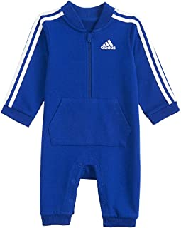 adidas Baby Boys' and Baby Girls Long Sleeve Hooded Coverall (Royal Blue, 3 Months)