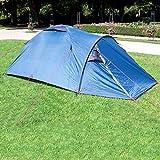 Wanderlust Kuppelzelt/Outdoor Zelt für 2 Personen - Ideal für Camping-Einsteiger und Festivalbesucher - Blau