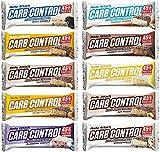 Body Attack Carb Control Mix Box, Proteinriegel ohne Zuckerzusatz, Low Sugar – High Protein 45%, Eiweißriegel mit Whey, Made in Germany, Mix-Box (10 x 100g)