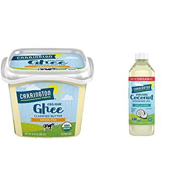 USDA Certified Organic Grass Fed Ghee, 12oz., Compare Our Cost Per Ounce & gluten free, hexane free, NON-GMO, free of hydrogenated and trans fats in a BPA free bottle, unflavored, 16 Fl Oz