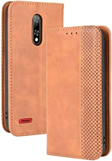 Case for Ulefone Note 8P,Leather Stand Wallet Flip Case Cover for Ulefone Note 8P,Retro magnetic Phone shell,Wallet phone ...