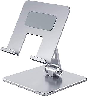 Tablet Stand Adjustable, Aluminum Metal Tablet Holder Desktop Holder Dock Cradle Compatible with iPad Pro 12.9,10.5, 9.7, ...