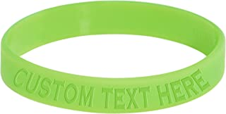 Body Candy Custom Green Silicone Style 1 Glow in The Dark Stretch Personalized Message Bracelet