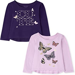 The Children's Place Toddler Girl Long Sleeve Butterfly Top 2-Pack