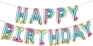 Best Happy Birthday Balloons, Aluminum Foil Banner Balloons for Birthday Party Decorations and Supplies (Rainbow) Reviews