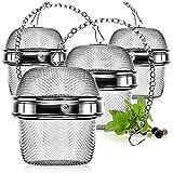 com-four® 4X Colador de té de Acero Inoxidable - infusor para té Suelto y Especias - Filtro de té de Malla Fina