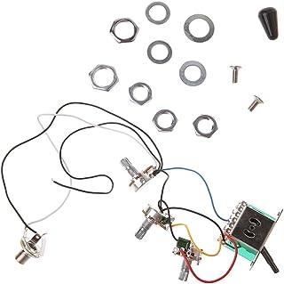 ruiruiNIE Arnés de cableado para Circuito de Guitarra eléctrica ST 5 Maneras Interruptor 2V1T1J A500K B500K