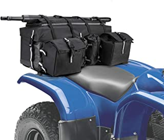 ATV Rear Cargo Bag Storage Box Water Repellent Fabric Rear Rack Gear Bag Luggage Basket Back Seat Bags with Water Bottle Holders Gun Holder